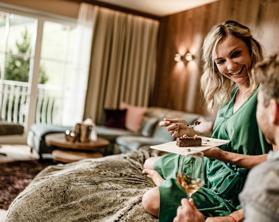 Werbe- und Hotelfotografie mit Models im Hotel Schwarzenstein