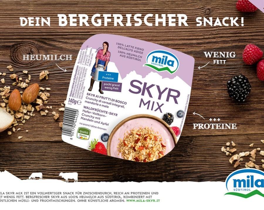 Produkt- und Imagefotografie für Mila - Skyr Mix